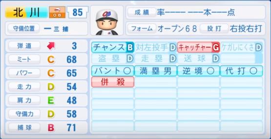 北川_プロ野球OB_パワプロ能力