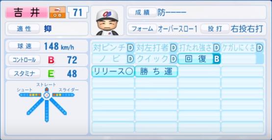 吉井_プロ野球OB_パワプロ能力