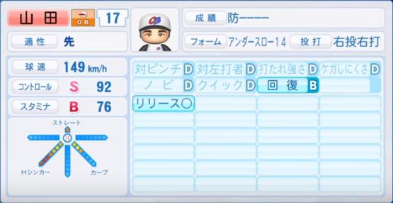 山田_プロ野球OB_パワプロ能力