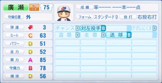 廣瀬_プロ野球OB_パワプロ能力