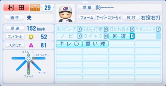 村田_プロ野球OB_パワプロ能力