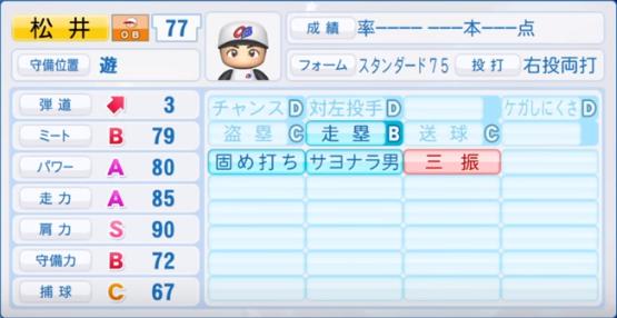 松井稼頭央_プロ野球OB_パワプロ能力