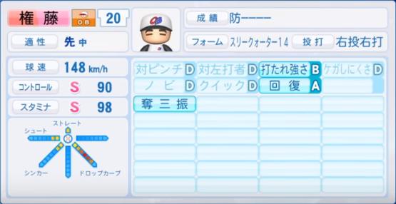 権藤_プロ野球OB_パワプロ能力