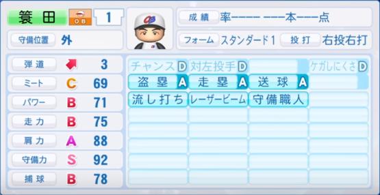 簑田_プロ野球OB_パワプロ能力