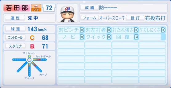 若田部_プロ野球OB_パワプロ能力