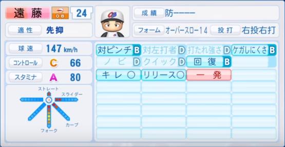 遠藤_プロ野球OB_パワプロ能力
