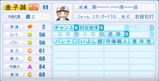 金子誠_プロ野球OB_パワプロ能力