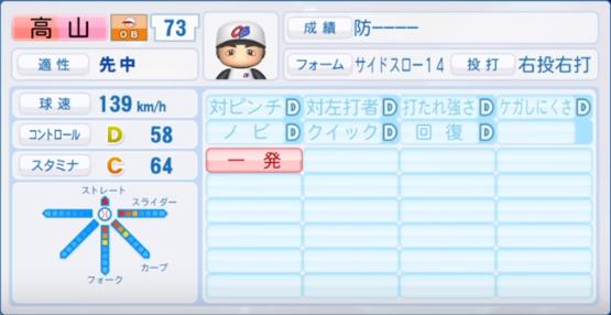 高山_プロ野球OB_パワプロ能力