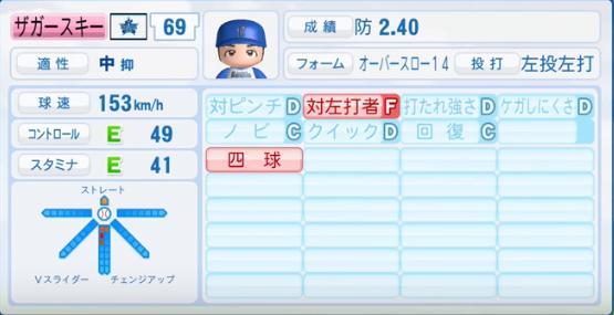 ザカースキー_横浜DeNAベイスターズ_パワプロ能力データ_2016年シーズン終了時