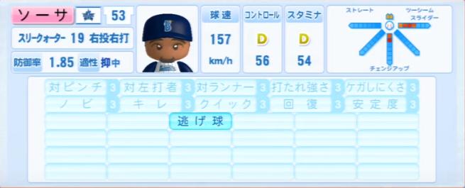 ソーサ_横浜DeNAベイスターズ_パワプロ能力データ_2013年シーズン終了時