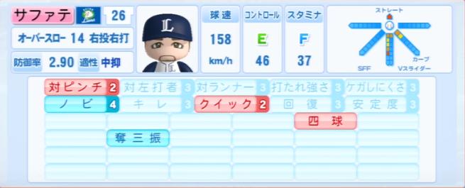 デニス・サファテ_西武ライオンズ_パワプロ能力データ_2013年シーズン終了時