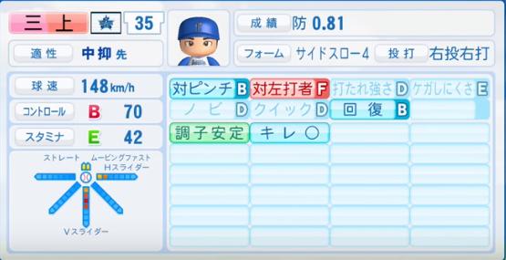 三上朋也_横浜DeNAベイスターズ_パワプロ能力データ_2016年シーズン終了時