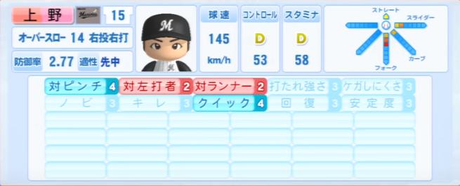 上野_千葉ロッテマリーンズ_パワプロ能力データ_2013年シーズン終了時