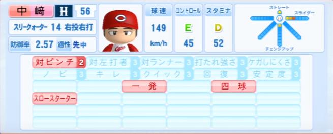 中崎翔太_広島カープ_パワプロ能力データ_2013年シーズン終了時