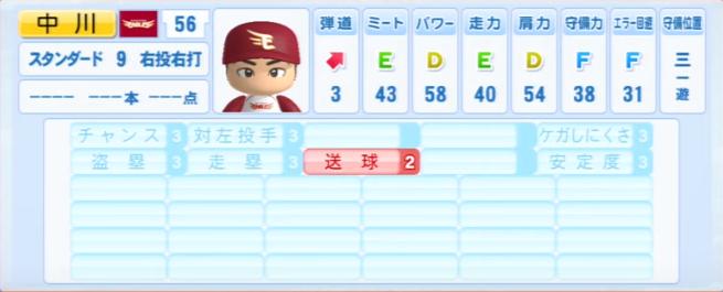 中川_楽天イーグルス_パワプロ能力データ_2013年シーズン終了時