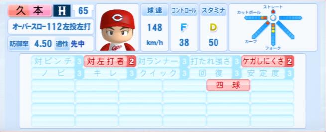 久本_広島カープ_パワプロ能力データ_2013年シーズン終了時