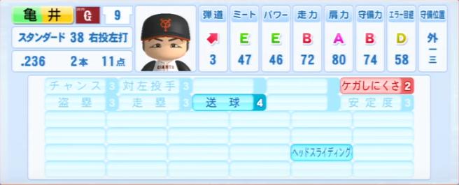 亀井善行_巨人_パワプロ能力データ_2013年シーズン終了時