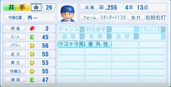 井手_横浜DeNAベイスターズ_パワプロ能力データ_2016年シーズン終了時