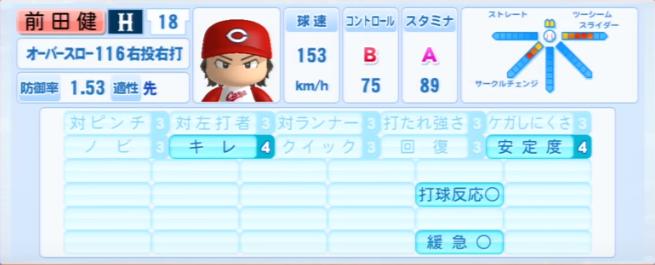 前田健太_広島カープ_パワプロ能力データ_2013年シーズン終了時