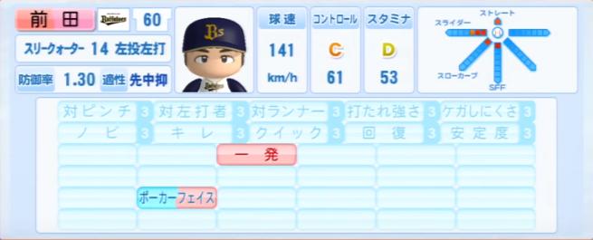 前田_オリックスバファローズ_パワプロ能力データ_2013年シーズン終了時