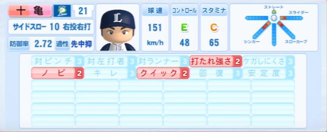 十亀剣_西武ライオンズ_パワプロ能力データ_2013年シーズン終了時