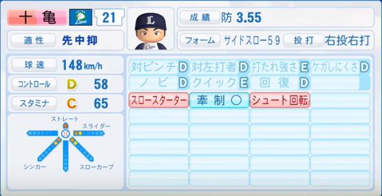 十亀剣_西武ライオンズ_パワプロ能力データ_2016年シーズン終了時
