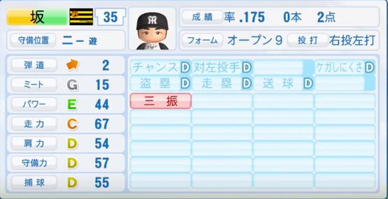坂克彦_阪神タイガース_パワプロ能力データ_2016年シーズン終了時