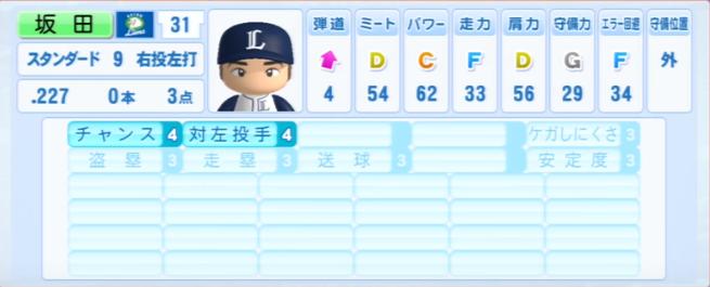 坂田_西武ライオンズ_パワプロ能力データ_2013年シーズン終了時