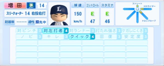増田_西武ライオンズ_パワプロ能力データ_2013年シーズン終了時