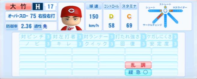 大竹寛_広島カープ_パワプロ能力データ_2013年シーズン終了時
