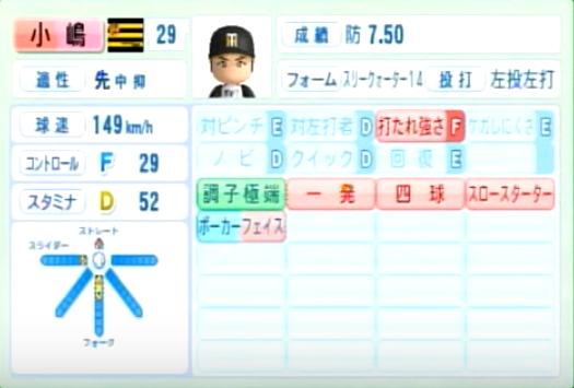 小嶋_阪神タイガース_パワプロ能力データ_2014年シーズン終了時