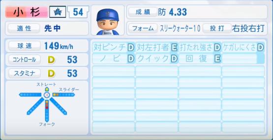 小杉_横浜DeNAベイスターズ_パワプロ能力データ_2016年シーズン終了時