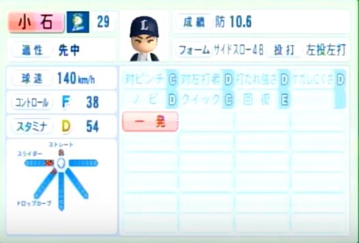 小石_西武ライオンズ_パワプロ能力データ_2014年シーズン終了時
