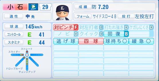 小石_西武ライオンズ_パワプロ能力データ_2016年シーズン終了時