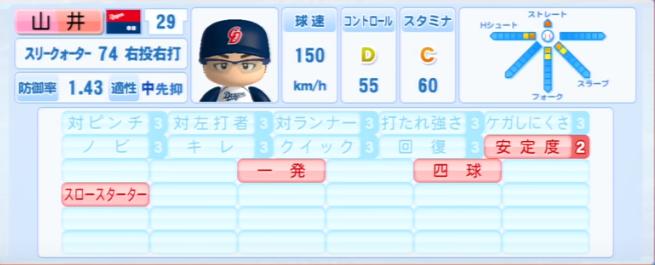山井大介_中日ドラゴンズ_パワプロ能力データ_2013年シーズン終了時