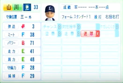 山川穂高_西武ライオンズ_パワプロ能力データ_2014年シーズン終了時