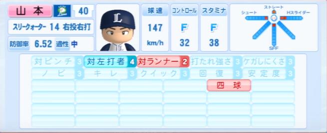 山本淳_西武ライオンズ_パワプロ能力データ_2013年シーズン終了時