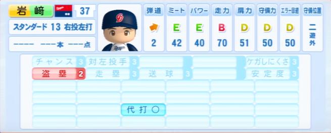 岩崎_中日ドラゴンズ_パワプロ能力データ_2013年シーズン終了時