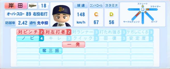 岸田_オリックスバファローズ_パワプロ能力データ_2013年シーズン終了時