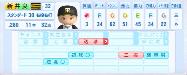 新井良太_阪神タイガース_パワプロ能力データ_2013年シーズン終了時