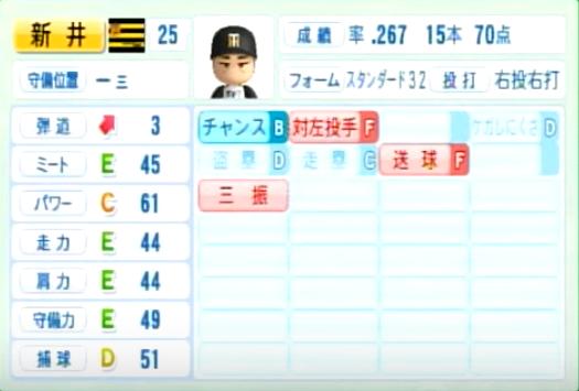 新井貴浩_阪神タイガース_パワプロ能力データ_2014年シーズン終了時