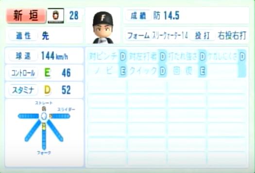 新垣_日本ハムファイターズ_パワプロ能力データ_2014年シーズン終了時