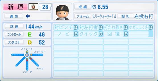 新垣_日本ハムファイターズ_パワプロ能力データ_2016年シーズン終了時