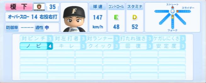 榎下_日本ハムファイターズ_パワプロ能力データ_2013年シーズン終了時