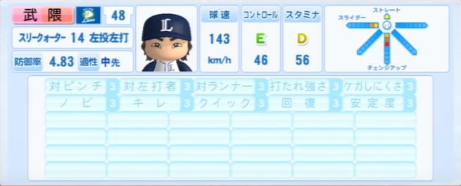 武隈_西武ライオンズ_パワプロ能力データ_2013年シーズン終了時