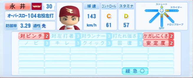 永井_楽天イーグルス_パワプロ能力データ_2013年シーズン終了時