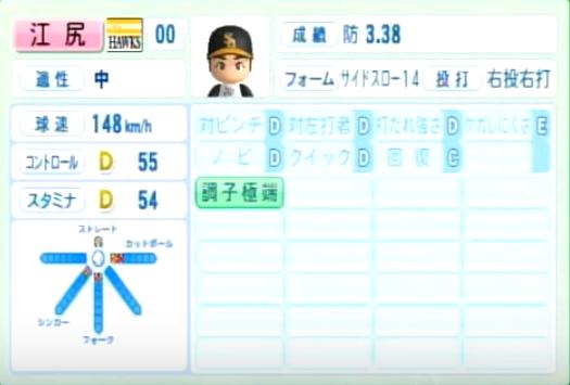 江尻_ソフトバンクホークス_パワプロ能力データ_2014年シーズン終了時
