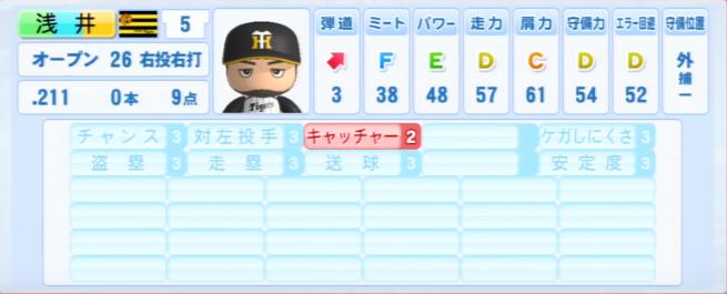 浅井良_阪神タイガース_パワプロ能力データ_2013年シーズン終了時