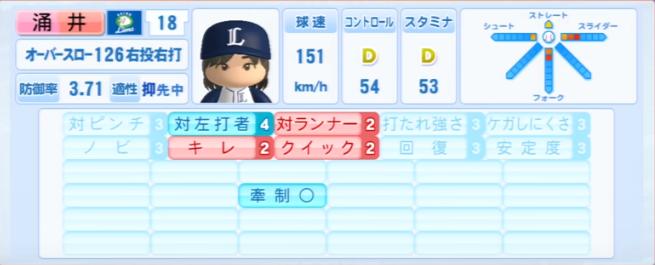 涌井秀章_西武ライオンズ_パワプロ能力データ_2013年シーズン終了時