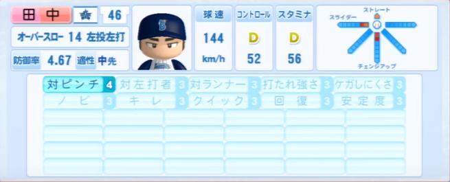 田中健二朗_横浜DeNAベイスターズ_パワプロ能力データ_2013年シーズン終了時